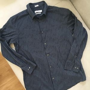 Calvin Klein Modern Fit Navy Button Down Shirt